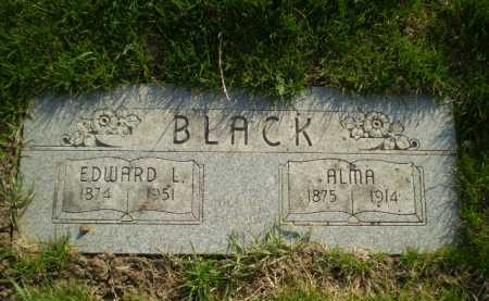BLACK, EDWARD L - Douglas County, Nebraska | EDWARD L BLACK - Nebraska Gravestone Photos
