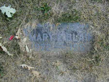 BLAIR, MARY E - Douglas County, Nebraska | MARY E BLAIR - Nebraska Gravestone Photos