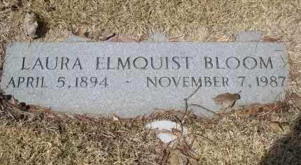 ELMQUIST BLOOM, LAURA - Douglas County, Nebraska | LAURA ELMQUIST BLOOM - Nebraska Gravestone Photos