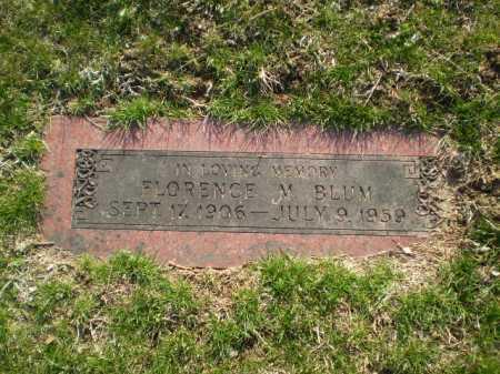 BLUM, FLORENCE M. - Douglas County, Nebraska | FLORENCE M. BLUM - Nebraska Gravestone Photos