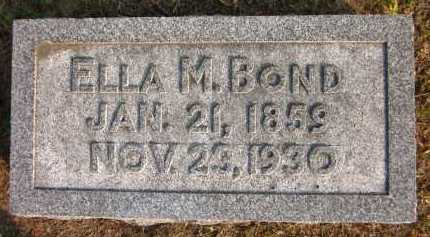 BOND, ELLA M. - Douglas County, Nebraska   ELLA M. BOND - Nebraska Gravestone Photos