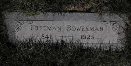 BOWERMAN, FREEMAN - Douglas County, Nebraska | FREEMAN BOWERMAN - Nebraska Gravestone Photos