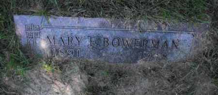 BOWERMAN, MARY E. - Douglas County, Nebraska | MARY E. BOWERMAN - Nebraska Gravestone Photos