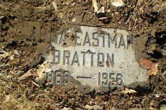 EASTMAN BRATTON, ANNA - Douglas County, Nebraska | ANNA EASTMAN BRATTON - Nebraska Gravestone Photos