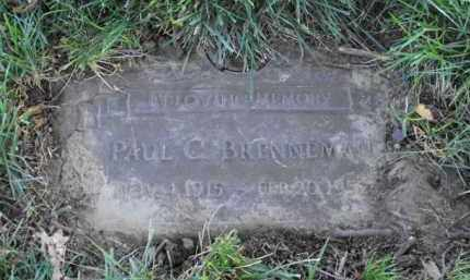BRENNEMAN, PAUL C. - Douglas County, Nebraska | PAUL C. BRENNEMAN - Nebraska Gravestone Photos