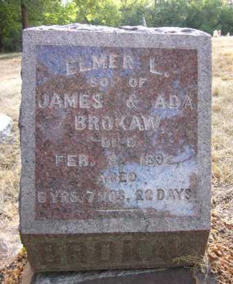 BROKAW, ELMER L. - Douglas County, Nebraska | ELMER L. BROKAW - Nebraska Gravestone Photos