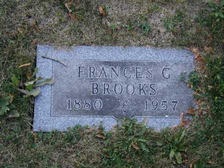 BROOKS, FRANCES G - Douglas County, Nebraska | FRANCES G BROOKS - Nebraska Gravestone Photos