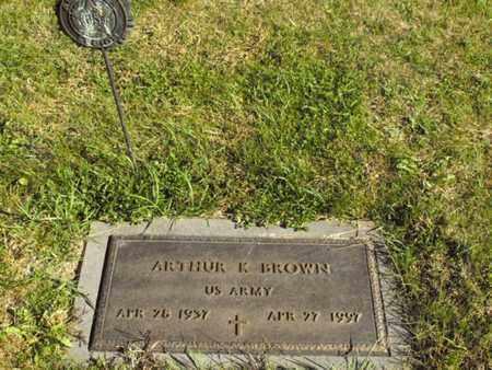 BROWN, ARTHUR - Douglas County, Nebraska   ARTHUR BROWN - Nebraska Gravestone Photos