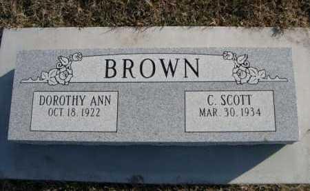 BROWN, DOROTHY ANN - Douglas County, Nebraska   DOROTHY ANN BROWN - Nebraska Gravestone Photos