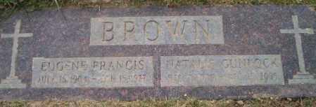 BROWN, EUGENE FRANCIS - Douglas County, Nebraska | EUGENE FRANCIS BROWN - Nebraska Gravestone Photos