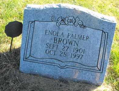 BROWN, ENOLA - Douglas County, Nebraska | ENOLA BROWN - Nebraska Gravestone Photos
