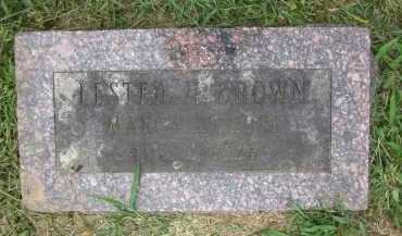 BROWN, LESTER H. - Douglas County, Nebraska | LESTER H. BROWN - Nebraska Gravestone Photos