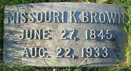 KENEDY BROWN, MISSOURI - Douglas County, Nebraska | MISSOURI KENEDY BROWN - Nebraska Gravestone Photos