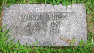 BROWN, MINNIE - Douglas County, Nebraska | MINNIE BROWN - Nebraska Gravestone Photos