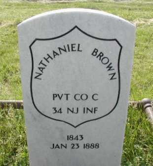 BROWN, NATHANIEL - Douglas County, Nebraska | NATHANIEL BROWN - Nebraska Gravestone Photos
