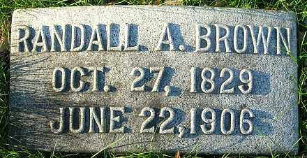 BROWN, RANDALL A. - Douglas County, Nebraska | RANDALL A. BROWN - Nebraska Gravestone Photos