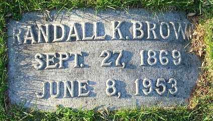 BROWN, RANDALL K. - Douglas County, Nebraska | RANDALL K. BROWN - Nebraska Gravestone Photos