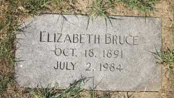 BRUCE, ELIZABETH - Douglas County, Nebraska | ELIZABETH BRUCE - Nebraska Gravestone Photos