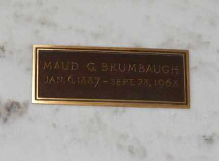 BRUMBAUGH, MAUD G. - Douglas County, Nebraska   MAUD G. BRUMBAUGH - Nebraska Gravestone Photos