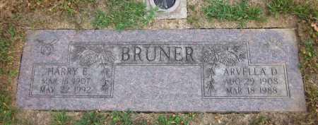 BRUNER, HARRY E. - Douglas County, Nebraska | HARRY E. BRUNER - Nebraska Gravestone Photos