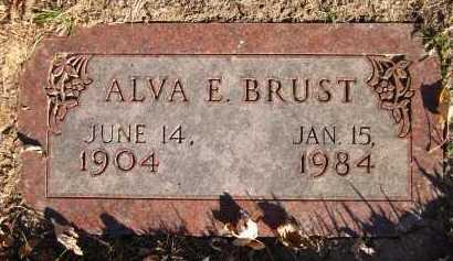 BRUST, ALVA E. - Douglas County, Nebraska | ALVA E. BRUST - Nebraska Gravestone Photos