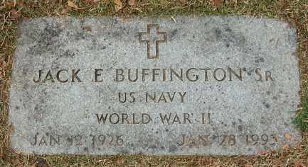 BUFFINGTON, JACK E., SR. - Douglas County, Nebraska   JACK E., SR. BUFFINGTON - Nebraska Gravestone Photos