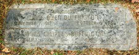 BUFFINGTON, JANE OWEN - Douglas County, Nebraska | JANE OWEN BUFFINGTON - Nebraska Gravestone Photos