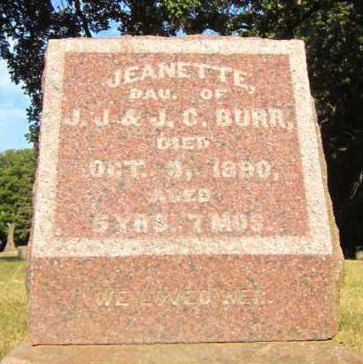 BURR, JEANETTE - Douglas County, Nebraska | JEANETTE BURR - Nebraska Gravestone Photos