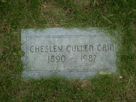 CAIN, CHESLEY CULLEN - Douglas County, Nebraska | CHESLEY CULLEN CAIN - Nebraska Gravestone Photos