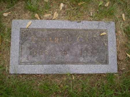CAIN, EDWARD L - Douglas County, Nebraska   EDWARD L CAIN - Nebraska Gravestone Photos