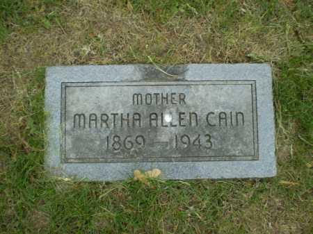 CAIN, MARTHA ALLEN - Douglas County, Nebraska | MARTHA ALLEN CAIN - Nebraska Gravestone Photos