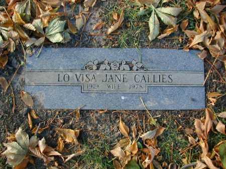 CALLIES, LO VISA JANE - Douglas County, Nebraska | LO VISA JANE CALLIES - Nebraska Gravestone Photos