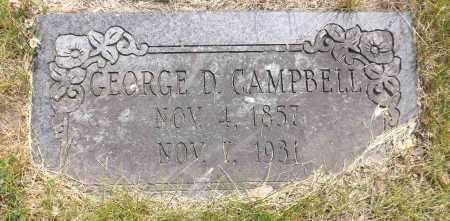 CAMPBELL, GEORGE D. - Douglas County, Nebraska   GEORGE D. CAMPBELL - Nebraska Gravestone Photos