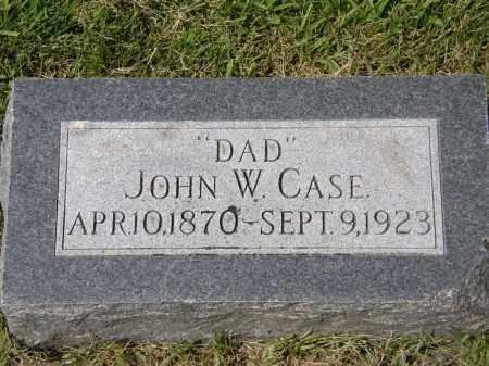 CASE, JOHN W. - Douglas County, Nebraska | JOHN W. CASE - Nebraska Gravestone Photos