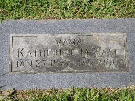 CASE, KATHERINE M. - Douglas County, Nebraska   KATHERINE M. CASE - Nebraska Gravestone Photos