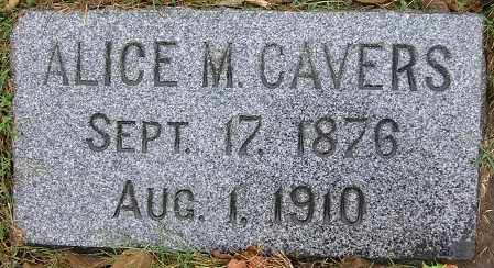 MC DONEGAL CAVERS, ALICE M (MAY) - Douglas County, Nebraska | ALICE M (MAY) MC DONEGAL CAVERS - Nebraska Gravestone Photos
