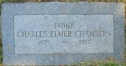CHAMBERS, CHARLES ELMER - Douglas County, Nebraska | CHARLES ELMER CHAMBERS - Nebraska Gravestone Photos