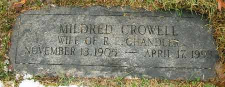 CROWELL CHANDLER, MILDRED - Douglas County, Nebraska | MILDRED CROWELL CHANDLER - Nebraska Gravestone Photos