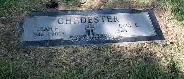 CHEDESTER, LEAH E. - Douglas County, Nebraska | LEAH E. CHEDESTER - Nebraska Gravestone Photos
