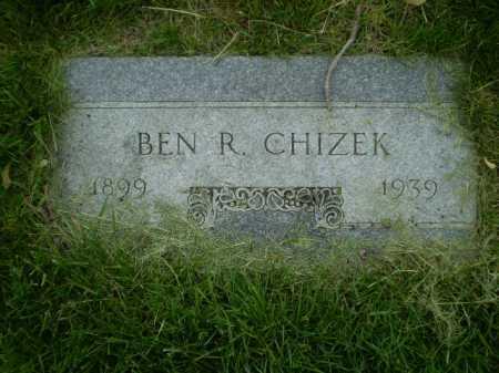 CHIZEK, BENJAMIN R - Douglas County, Nebraska | BENJAMIN R CHIZEK - Nebraska Gravestone Photos