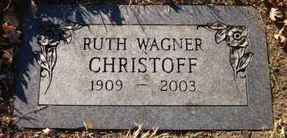 WAGNER CHRISTOFF, RUTH - Douglas County, Nebraska | RUTH WAGNER CHRISTOFF - Nebraska Gravestone Photos