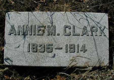 CLARK, ANNIE M - Douglas County, Nebraska | ANNIE M CLARK - Nebraska Gravestone Photos