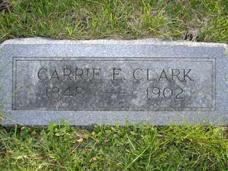 CLARK, CARRIE E - Douglas County, Nebraska | CARRIE E CLARK - Nebraska Gravestone Photos