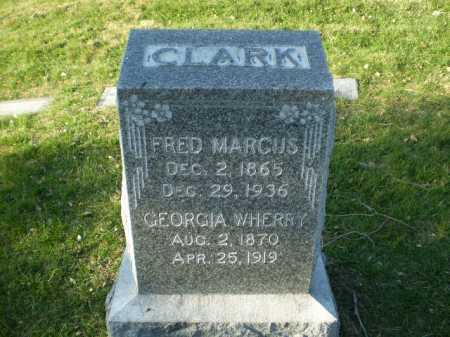 WHERRY CLARK, GEORGIA - Douglas County, Nebraska | GEORGIA WHERRY CLARK - Nebraska Gravestone Photos