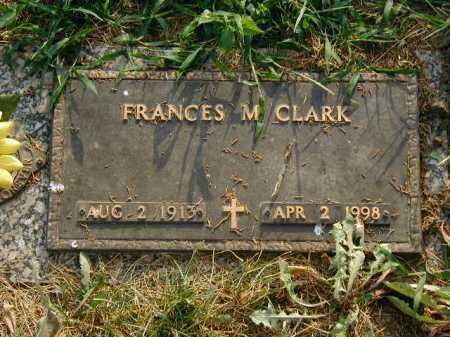 CLARK, FRANCES M - Douglas County, Nebraska | FRANCES M CLARK - Nebraska Gravestone Photos