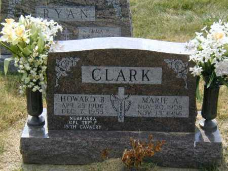 CLARK, HOWARD B - Douglas County, Nebraska | HOWARD B CLARK - Nebraska Gravestone Photos