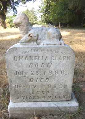 CLARK, OMANELLA - Douglas County, Nebraska | OMANELLA CLARK - Nebraska Gravestone Photos