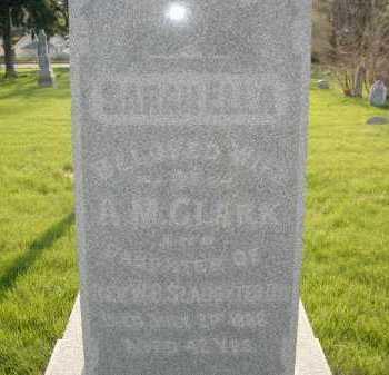 SLAUGHTER CLARK, SARAH ELLEN - Douglas County, Nebraska | SARAH ELLEN SLAUGHTER CLARK - Nebraska Gravestone Photos