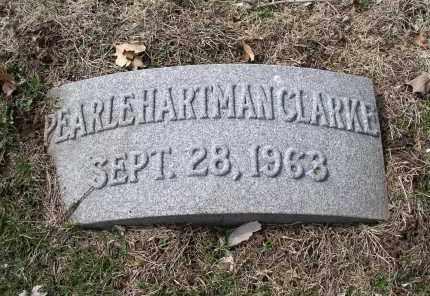 HARTMAN CLARKE, PEARLE - Douglas County, Nebraska | PEARLE HARTMAN CLARKE - Nebraska Gravestone Photos