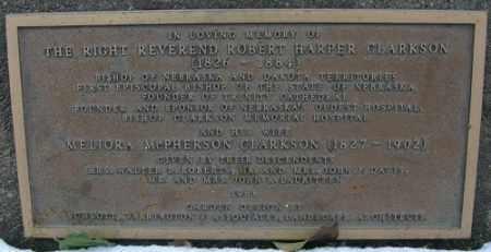 CLARKSON, ROBERT HARPER - Douglas County, Nebraska   ROBERT HARPER CLARKSON - Nebraska Gravestone Photos